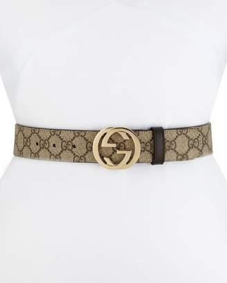 1dc120c0e Gucci GG Supreme Canvas Belt w/ Interlocking G Buckle