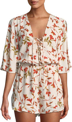 Lovers And Friends Epiphany Floral Cold-Shoulder Romper