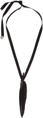 Ann Demeulemeester SSENSE Exclusive Black Feather Necklace