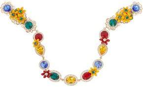 Dolce & Gabbana Gold-Tone Swarovski Crystal And Enamel Headband