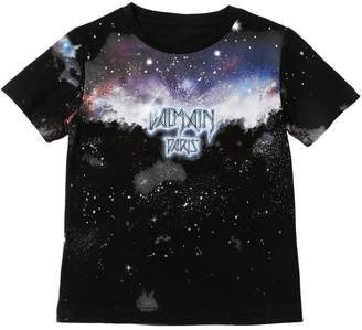 Balmain Galaxy & Logo Cotton Jersey T-Shirt