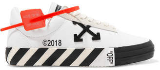 Off-White Off White Suede-trimmed Logo-appliqued Canvas Sneakers