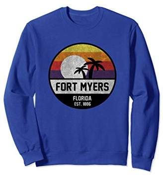 Fort Myers Retro Sunset Vintage Sweatshirt