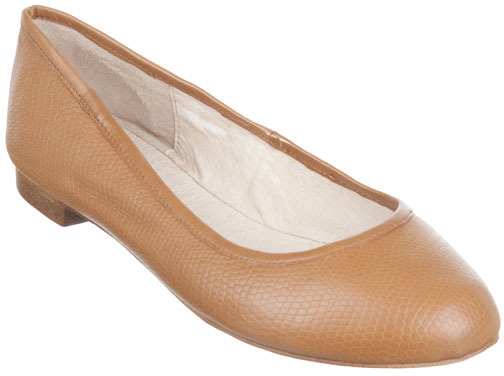 Niclaire Embossed Leather Soft Sole  Ballet Flats