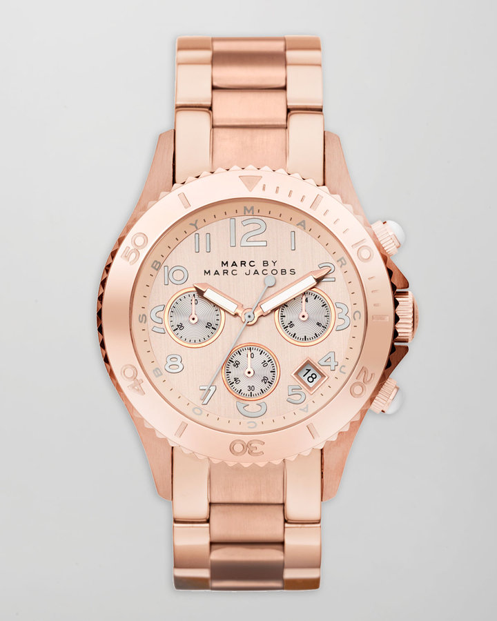 MARC by Marc Jacobs Rock Chronograph Watch, Rose Golden
