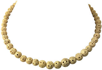 One Kings Lane Vintage Carved Nut Necklace - Owl's Roost Antiques