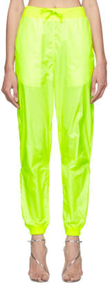 Off-White Off White Yellow Two-Layer Lounge Pants