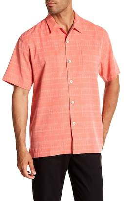 Tommy Bahama Geo-Rific Jacquard Short Sleeve Silk Camp Shirt