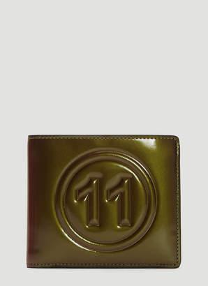 Maison Margiela No.11 Patent Leather Bi-Fold Wallet in Khaki