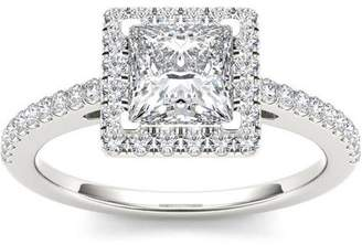 Imperial Diamond Imperial 1-1/4 Carat T.W. Diamond Princess-Cut Single Halo 14kt White Gold Engagement Ring