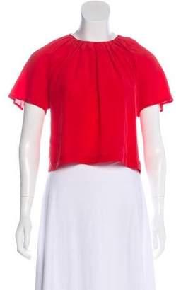 3899a376014 Red Silk Crop Top - ShopStyle