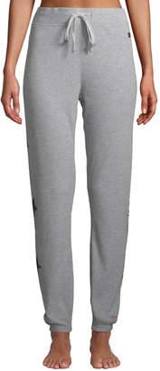 Peace Love World Ribbed Star-Print Comfy Pants