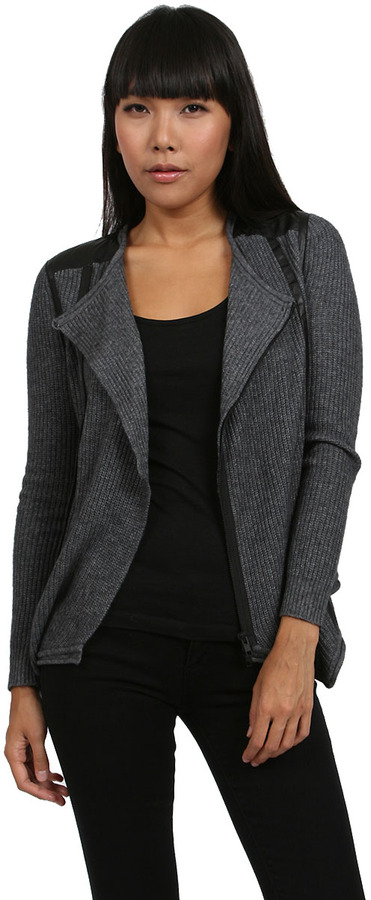 Plenty by Tracy Reese Moto Cardigan in Charcoal