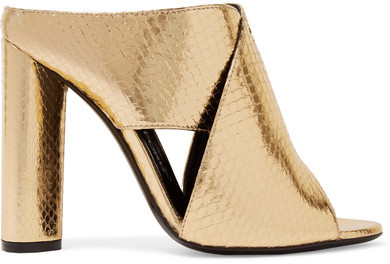 Tom FordTOM FORD - Metallic Ayers Mules - Gold