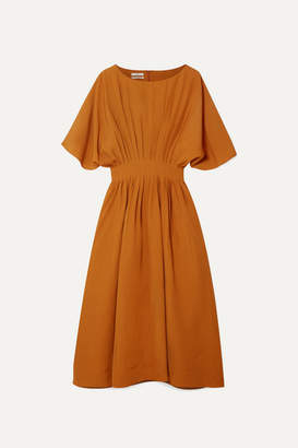 Co Pleated Broadcloth Midi Dress - Camel