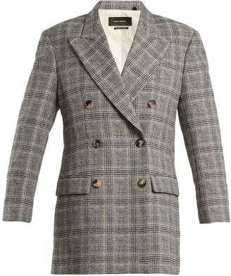Isabel Marant Telis double-breasted checked blazer