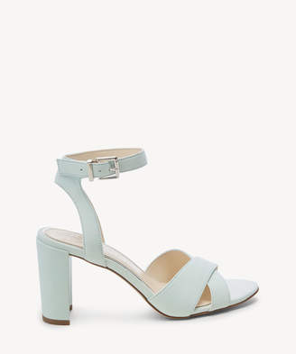 Jessica Simpson Women's Niara Ankle Strap Sandals Icy Blue Size 5 Leather From Sole Society