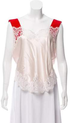 Givenchy Lace-Trim Sleeveless Top