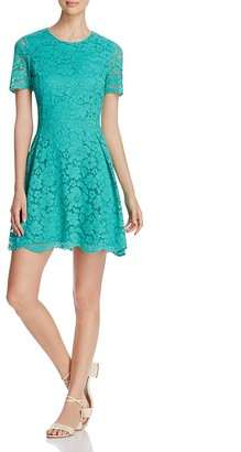 FINITY Lace Fit-and-Flare Dress $176 thestylecure.com