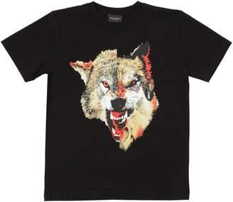 Marcelo Burlon County of Milan Wolfs Printed Cotton Jersey T-Shirt
