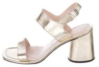 Marc Jacobs Metallic Leather Sandals