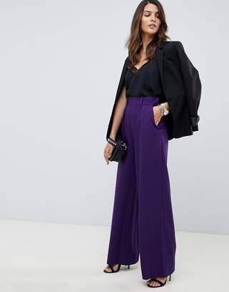 Asos Design DESIGN wide leg pants with pleat detail
