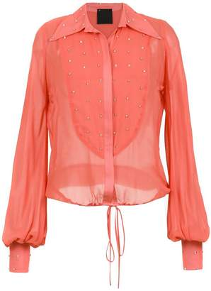 Andrea Bogosian embellished silk shirt