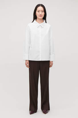 Cos OPEN-COLLAR POPLIN SHIRT