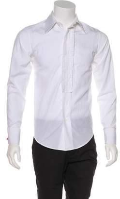 Saint Laurent Pleated French Cuff Shirt