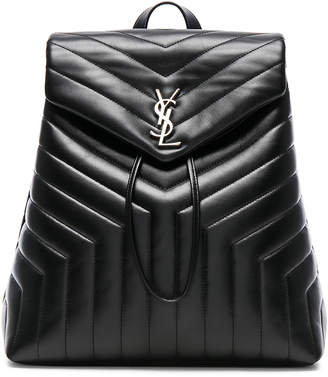 Saint Laurent Medium Supple Monogramme Loulou Backpack