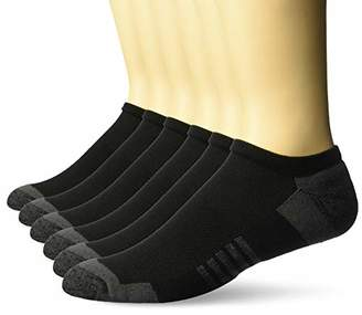 Amazon Essentials Men's 6-Pack Performance Cotton Cushioned Athletic No-Show Socks