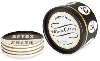 Jonathan Adler 4-Piece Master Cleanse Porcelain Coasters Set