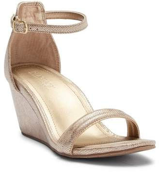 Kenneth Cole Reaction Cake Icing Ankle Strap Wedge Sandal