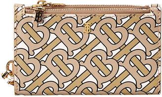 Burberry Leslie Monogram Motif Detachable Strap Leather Card Case