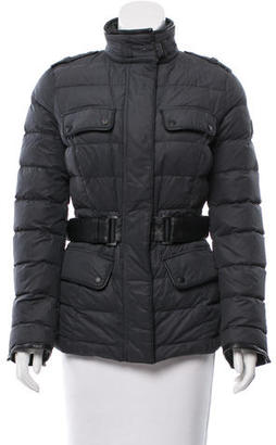 Belstaff Leather-Accented Puffer Coat $375 thestylecure.com