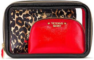 Victoria's Secret Victorias Secret Exotic Leopard Backstage Nested Trio