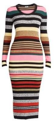 Kenzo Multicolor Stripe Knit Dress