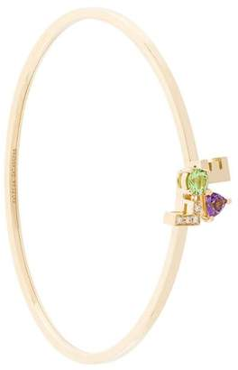 Delfina Delettrez 18kt gold and diamond Love bracelet