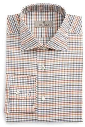 Canali Regular Fit Check Dress Shirt