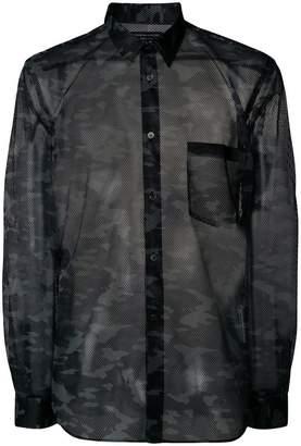 Comme des Garcons camo print mesh shirt