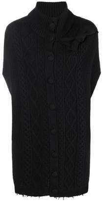 RED Valentino sleeveless turtleneck cardigan