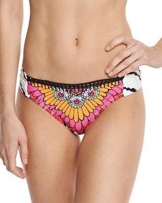Trina Turk Ibiza Shirred-Side Hipster Swim Bottom $68 thestylecure.com