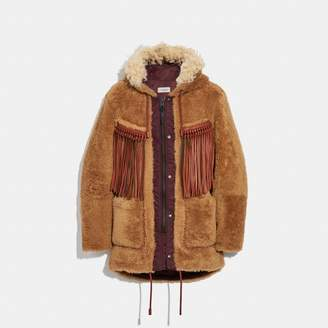 Coach Western Parka With Fringe