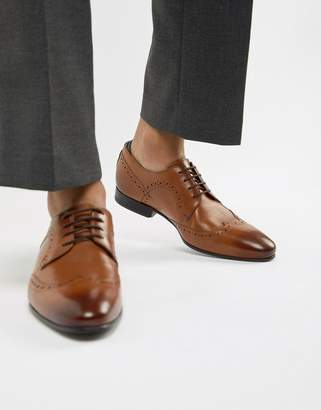 2c0c7e195 Ted Baker Ollivur brogue shoes in tan leather