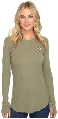 Converse Thermal Thumbhole Long Sleeve Tee $35 thestylecure.com
