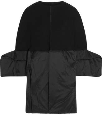Rick Owens - Wool-blend Gabardine And Shell Coat - Black $2,355 thestylecure.com