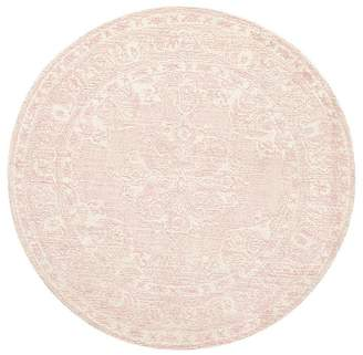 Pottery Barn Kids Astrid Rug, 5' Round, Blush
