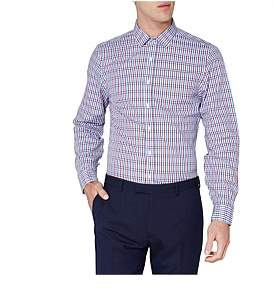 Ben Sherman Ls Mod Stripe Gingham Camden Fit Shirt