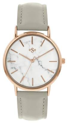 Spirit Ladies' Marble Effect Dial Rose Gold Tone Watch