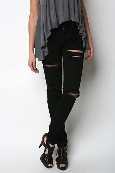 Silence & Noise Ripped Twig Jean